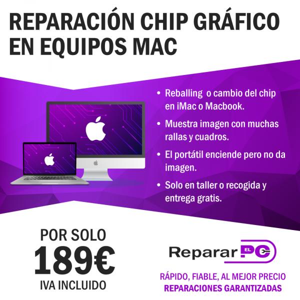 Reparación grafica mac