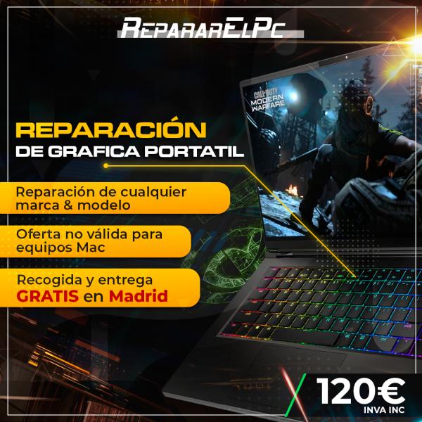 reparación grafica portátil