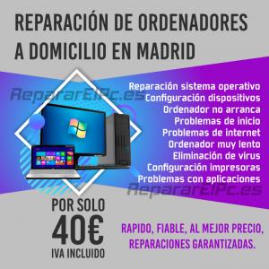 Reparación ordenadores Madrid