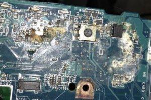 Reparacion portatil mojado