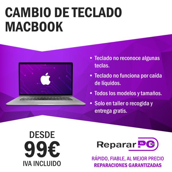 cambio teclado macbook