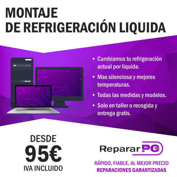 Montaje refrigeración liquida